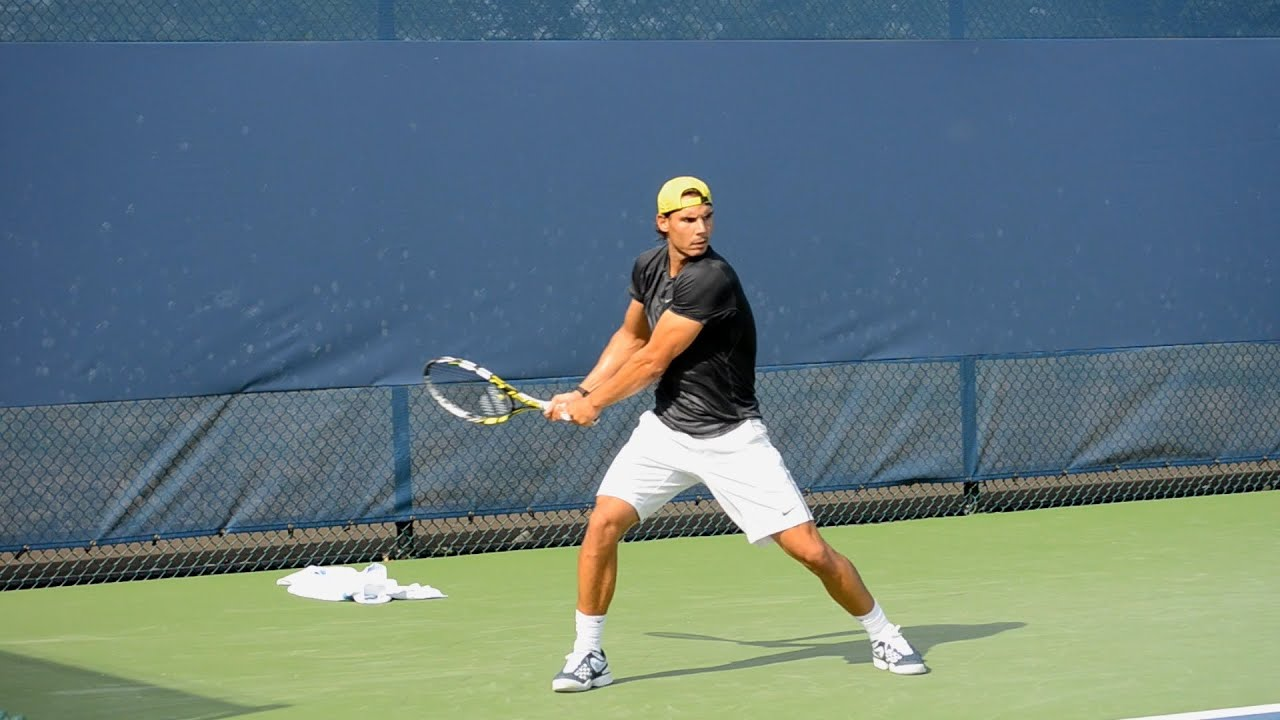 The great Rafael Nadal backhand